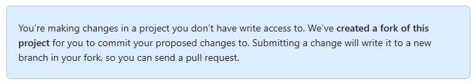 GitHub - Próba zapisania zmian przy braku uprawnień do projektu
