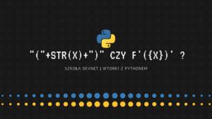 Formatowanie ciągu znaków w Python