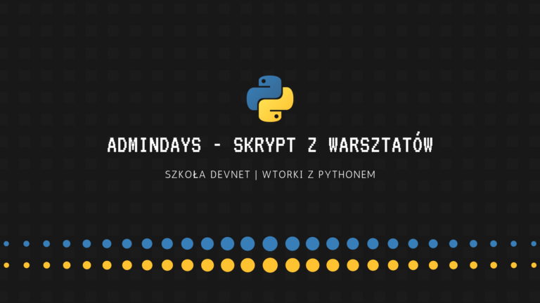 AdminDays - skrypt z warsztatów