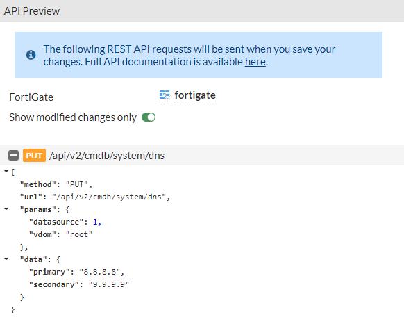 Podgląd zmian w API